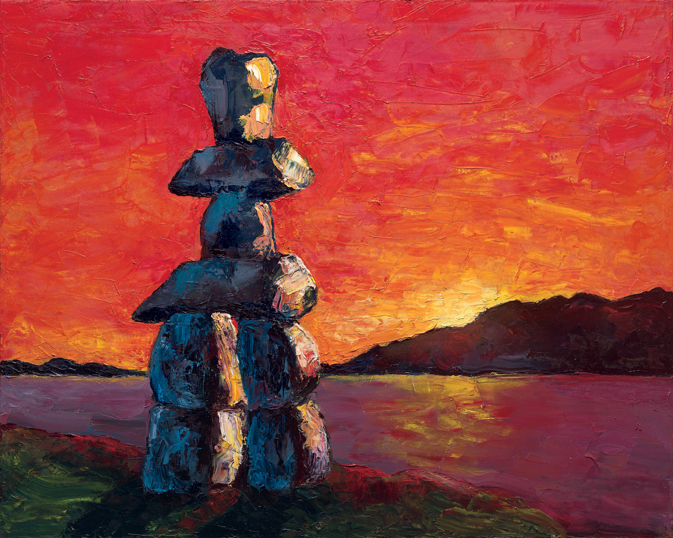 Inukshuk-at-Sunset